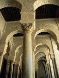 Arches Inside Great Mosque  Kairouan  Tunisia