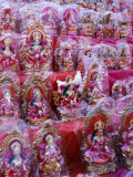 Figurines of Hindu Gods Ganesh and Laxshmi  Sold as Part of the Diwali Festival  Varanasi  India