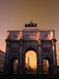 The Victory Gate Siegestor Built (1843-52)On Ludwigstrasse  Munich  Bavaria  Germany