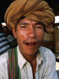Portrait of Man  Looking at Camera  Myanmar (Burma)