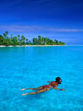 Snorkelling in Aitutaki Lagoon  Aitutaki  Southern Group  Cook Islands