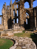 Stone Path Leading to Ruins of Whitby Abbey Whitby  England