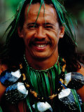 Portrait of Traditonal Dancer  Cook Islands
