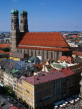 Towers of Frauenkirche (Church of Our Lady)  Munich  Germany