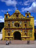 The 16th Century Decorated Church of San Andres Xecul  Totonicapan  Guatemala