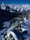 Gondoro Glacier from Gondoro Peak in Karakoram Range  Pakistan