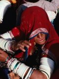 Woman at Pushkar Camel Fair  Pushkar  Rajasthan  India