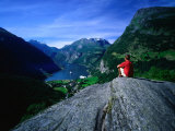 Lookout at Flydalsjuvet  Geiranger  Norway