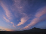 A Colorful Twilight Sky with Wispy Clouds over Bruneu Dunes  Idaho