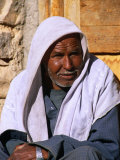 Bedouin Man at Village of Matar in Wadi Shagg  Sinai  Egypt