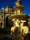 Fountain on South Side of Royal Exhibition Buildings  Exhibition Gardens  Melbourne  Australia