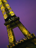 The Eiffel Tower at Night  Paris  France