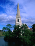 Spire of St Albans Anglican Church  Copenhagen  Denmark