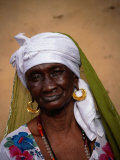 Portrait of Elderly Woman  Jufureh  North Bank  Gambia  The