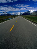 Road in Waterton Lakes National Park  Rocky Mountains  Waterton Lakes National Park  Canada