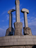 Monument to Party Foundation (Sickle  Hammer and Brush)  P'Yongyang  North Korea