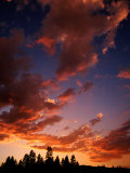 Clouds in Sky at Sunset  Truckee  USA