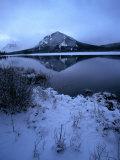Vermilion Lake and Mount Rundle Behind  Banff National Park  Alberta  Canada