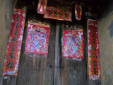 Chinese Door Gods  Yangdi Valley  Yangshuo  Guangxi  China