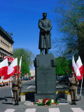 Guards at Monument to Marshal Pilsudski on 3Rd May  Constitution Day  Warsaw  Poland