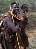 Turkana Women in Traditional Dress and Jewellery  Maralal  Rift Valley  Kenya