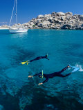 Two People Snorkelling  France