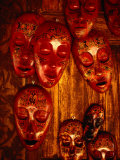 Painted Masks for Sale in the Village of Karang Bayan  Lombok  West Nusa Tenggara  Indonesia