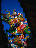 Rooftop Ornament on Taoist Szutsao Temple  Tainan  Taiwan