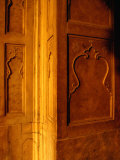 Carved Wall Panels at the Red Fort  Delhi  India