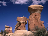 Rock Formations at Devils' Garden  Grand Staircase-Escalante National Monument  Utah  USA