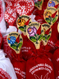 Souvenir Bags of Paprika with Spoons for Sale  Budapest  Hungary