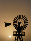 Windmill at Sunset  Isla De Lanzarote  Canary Islands  Spain
