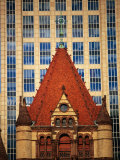 Trinity Church (1872-77) in Copley Square  Boston  Massachusetts  USA