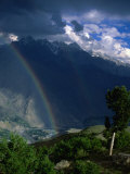 Rainbow in Valley  Chitral Gol National Park  North-West Frontier Province  Pakistan