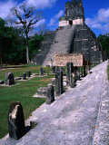 Temple Ii from North Acropolis  Tikal  Guatemala