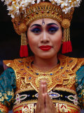 Portrait of Traditional Dancer in Costume  Ubud  Indonesia