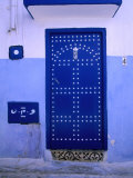 Blue Door of Kasbah Des Oudaias  Rabat  Morocco