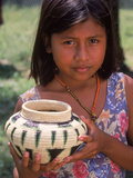 Local Girl with Pottery  Panama
