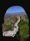 A View Through an Arched Window of the Great Wall