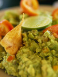 A Close View of Guacamole Dip