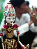 Traditional Puppet with Vendor in Background  Jakarta  Indonesia