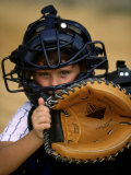Portrait of a Boy Holding a Baseball Glove