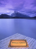 Welcome Mat on Dock  Alberta