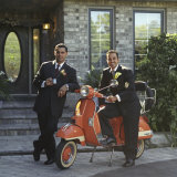 Well Dressed Men with a Scooter