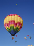 Colorful Hot Air Balloons in Sky  Albuquerque  New Mexico  USA