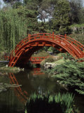 Moon Bridge Japanese Garden Huntington Botanical Gardens San Marino  California  USA