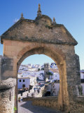 Entry to Ronda&#39;s Jewish Quarter  Andalucia  Spain