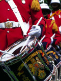 Uniformed Guardsman Playing Drum  Bermuda  Caribbean