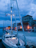 Sailboat in Harbor  Trogir  Croatia