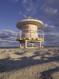 Lifeguard Station on South Beach  Miami  Florida  USA